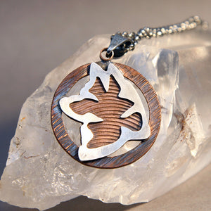 Akita Tribal Mixed Metals Pendant Necklace
