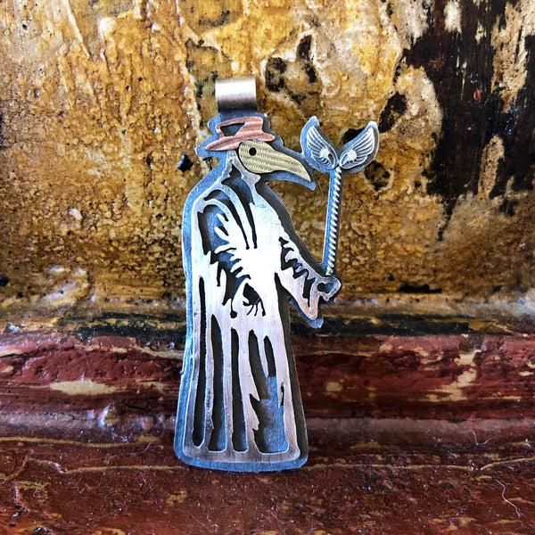 Wash Your Hands Plague Doctor Pendant Necklace