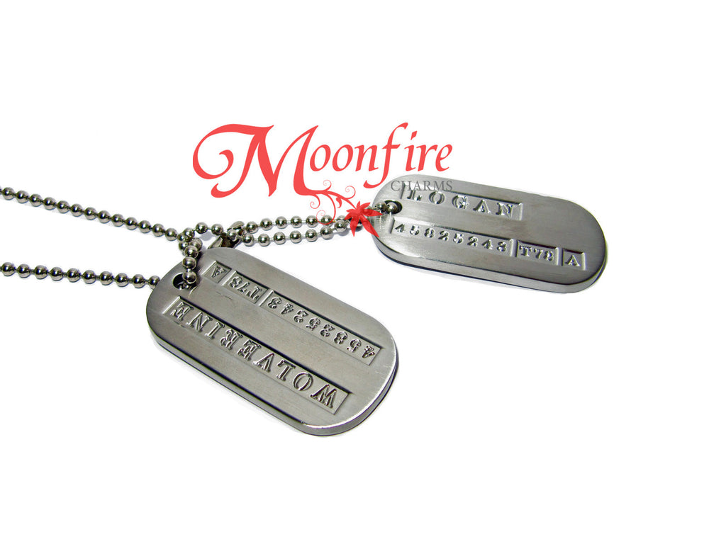 X-MEN Wolverine Military Dog Tag Necklace