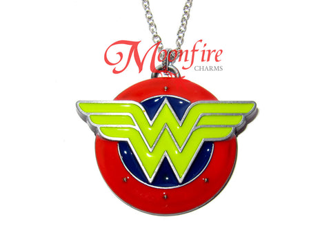 WONDER LADY W Logo Pendant Necklace