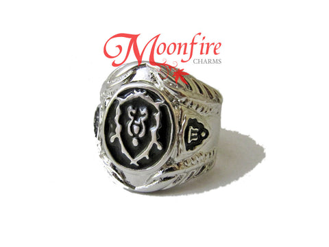 WORLD OF WARCRAFT Alliance Symbol Ring
