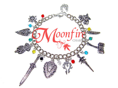WORLD OF WARCRAFT Fandom Charm Bracelet