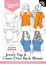 Jersey Top & Cross-Over Back Blouse