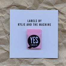 """YES I MADE IT"" Woven Labels 8 Pack"