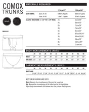 Comox Trunks PDF Sewing Pattern