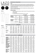 Lazo Trousers PDF Sewing Pattern