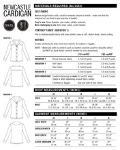 Newcastle Cardigan PDF Sewing Pattern