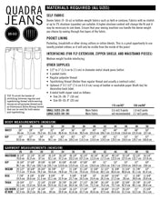 Quadra Jeans PDF Sewing Pattern