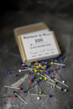 Glass Headed Pins - 100 pack