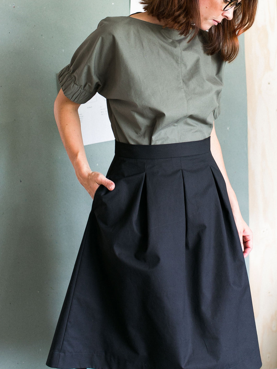 Three Pleat Skirt