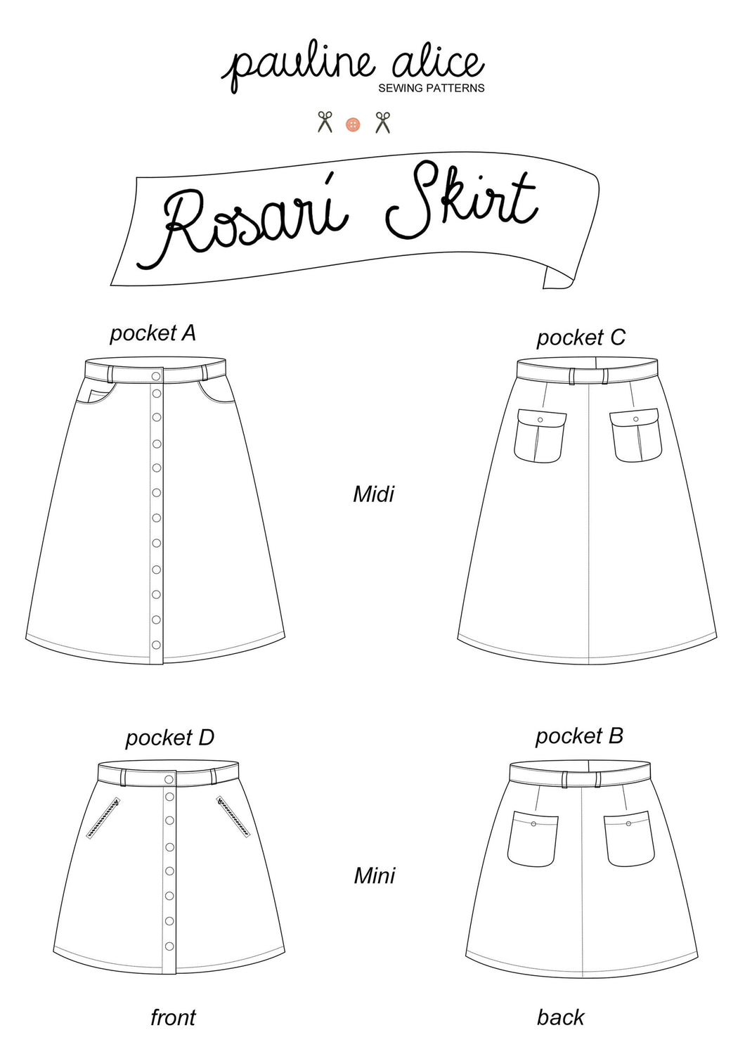 Rosarí Skirt Sewing Pattern – Indie Stitches