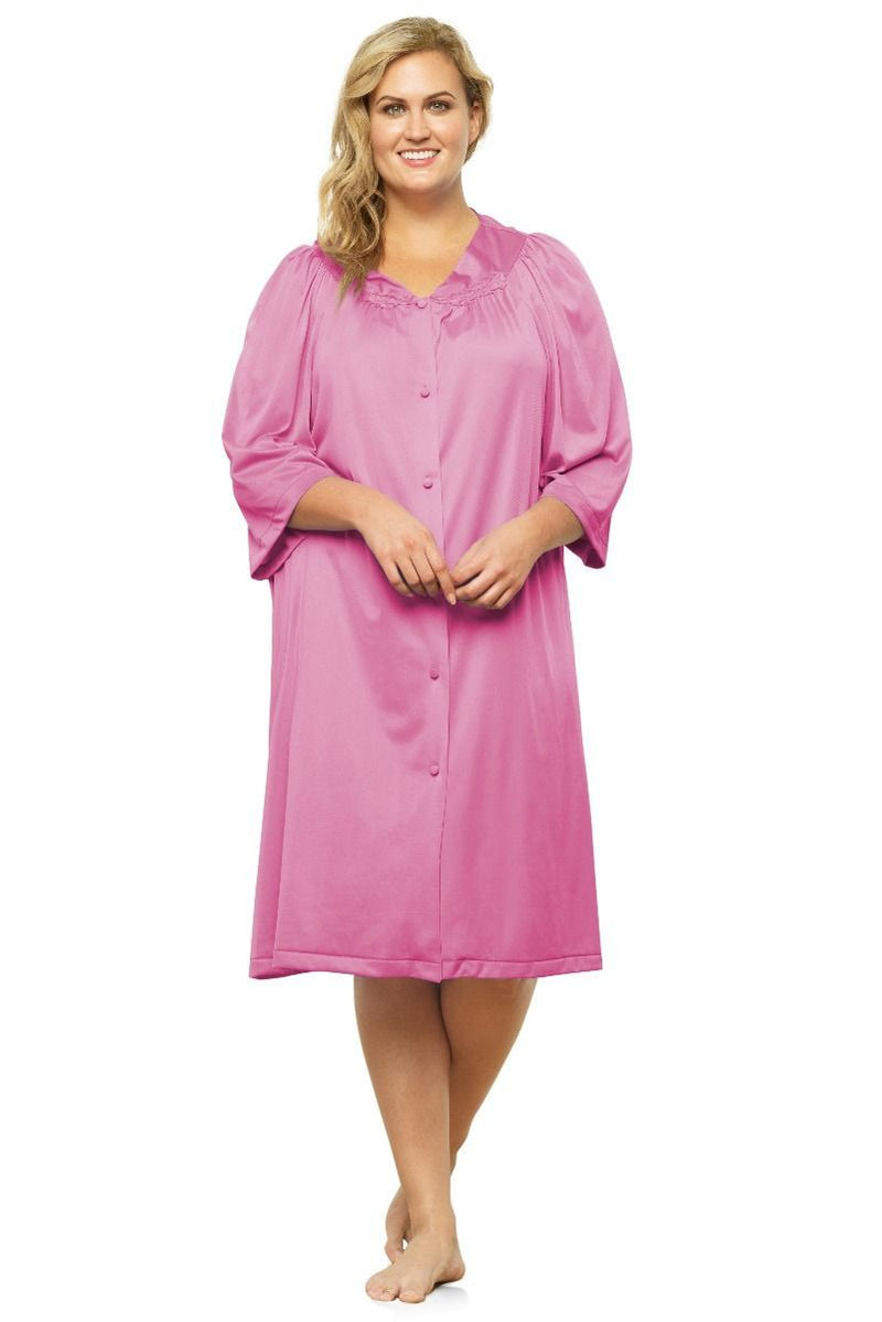 Button Front Knee Length Robe