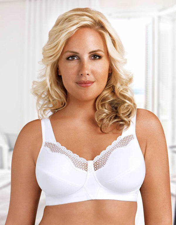 FULLY® Cotton Soft Cup Bra With Lace