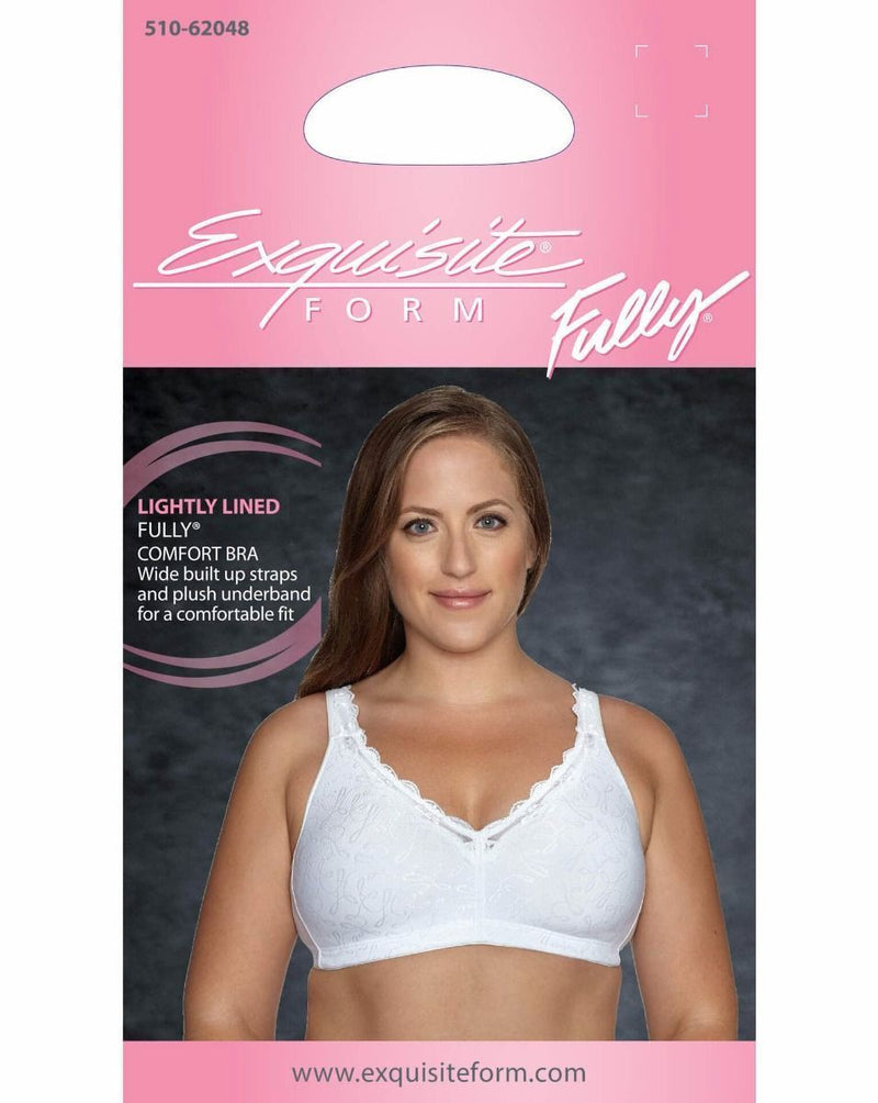 FULLY® Comfort Lining Bra with Jacquard Lace