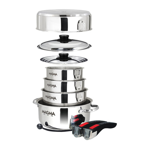 Magma Professional Series 10-Piece Gourmet Nesting Induction Cookware - *Case of 4* [A10-360L-INDCASE]