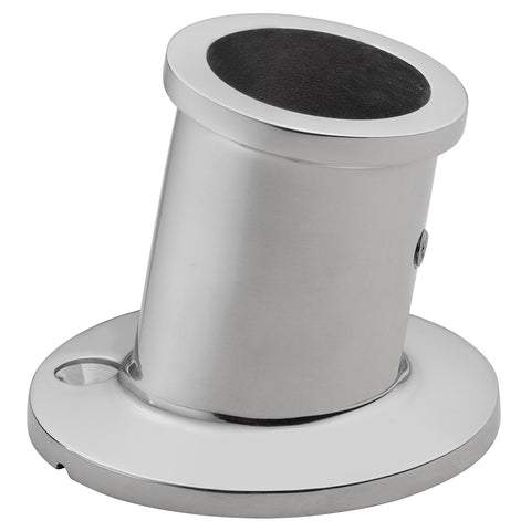 "Whitecap Top-Mounted Flag Pole Socket - Stainless Steel - 1"" ID [6147]"