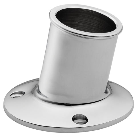 "Whitecap Top-Mounted Flag Pole Socket - CP/Brass - 1-1/4"" ID [S-5003]"