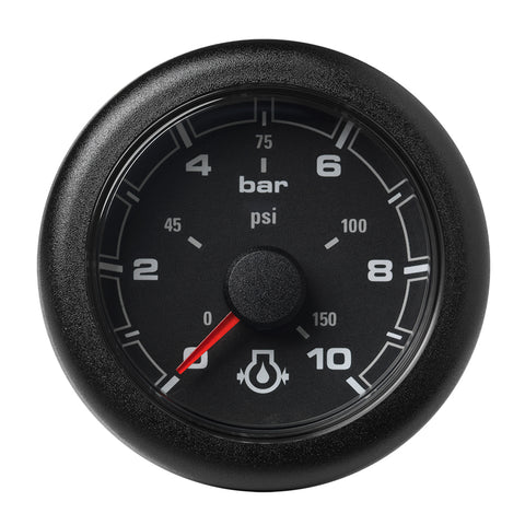 "Veratron 52MM (2-1/16"") OceanLink Engine Oil Pressure Gauge -10 Bar/150 PSI - Black Dial  Bezel [A2C1066000001]"