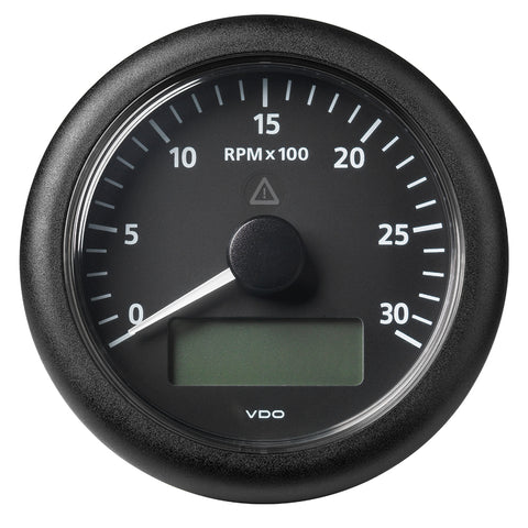 "Veratron 3-3/8"" (85MM) ViewLine Tachometer w/Multi-Function Display - 0 to 3000 RPM - Black Dial  Bezel [A2C59512390]"