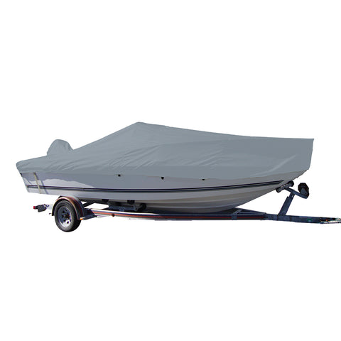 Carver Performance Poly-Guard Styled-to-Fit Boat Cover f/18.5 V-Hull Center Console Fishing Boat - Grey [70018P-10]