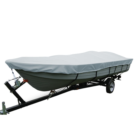 Carver Performance Poly-Guard Wide Series Styled-to-Fit Boat Cover f/15.5 V-Hull Fishing Boats Without Motor - Grey [70115P-10]