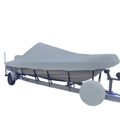 Carver Performance Poly-Guard Styled-to-Fit Boat Cover f/21.5 V-Hull Center Console Shallow Draft Boats - Grey [71221P-10]