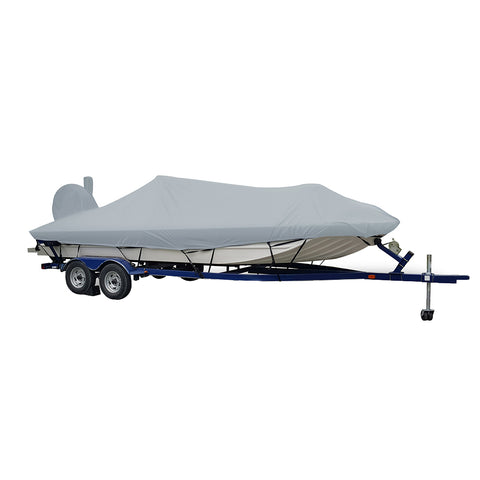 Carver Performance Poly-Guard Extra Wide Series Styled-to-Fit Boat Cover f/20.5 Aluminum Modified V Jon Boats - Grey [71420XP-10]