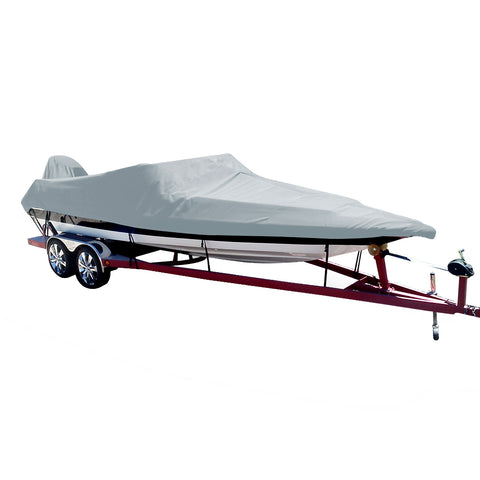 Carver Performance Poly-Guard Styled-to-Fit Boat Cover f/18.5 Ski Boats w/Low Profile Windshield - Grey [74018P-10]