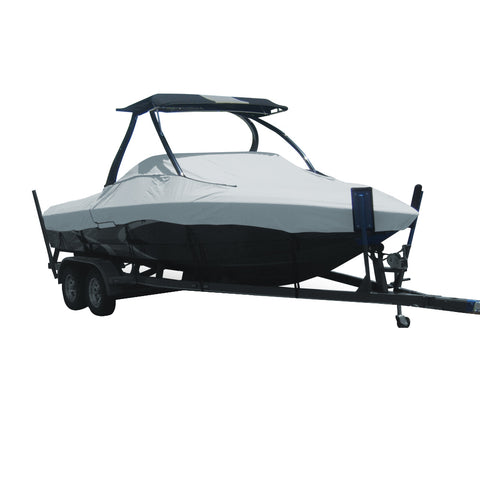 Carver Performance Poly-Guard Specialty Boat Cover f/19.5 Tournament Ski Boats w/Tower - Grey [74519P-10]