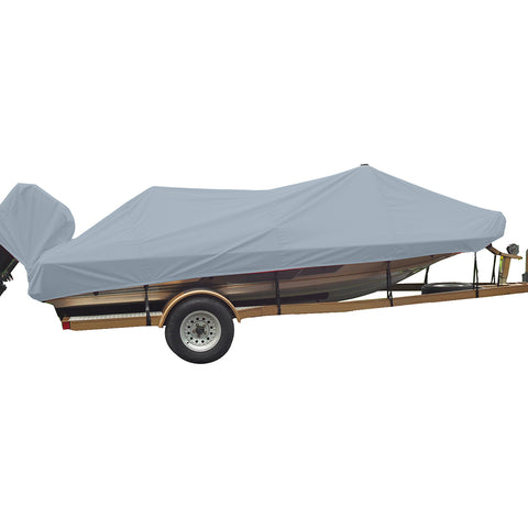 Carver Performance Poly-Guard Styled-to-Fit Boat Cover f/19.5 Wide Style Bass Boats - Grey [77219P-10]