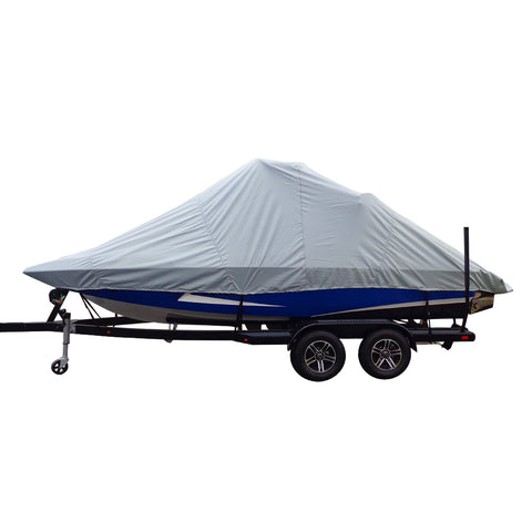 Carver Performance Poly-Guard Specialty Boat Cover f/22.5 Inboard Tournament Ski Boats w/Wide Bow  Swim Platform - Grey [82122P-10]