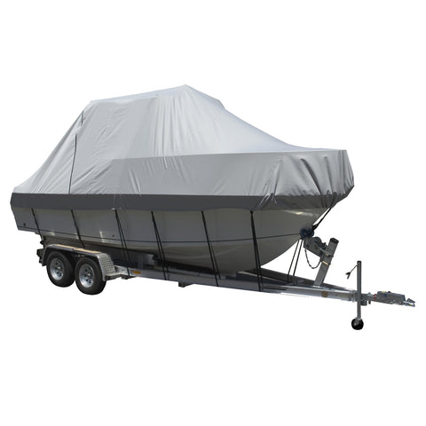 Carver Performance Poly-Guard Specialty Boat Cover f/19.5 Walk Around Cuddy  Center Console Boats - Grey [90019P-10]