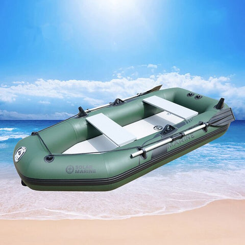3 Person 260cm Inflatable Rowing Boat PVC Kayak Dinghy Hovercraft Fishing Canoe Drifting Raft Sailboat Surfing Sailing Ship B
