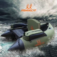 1 person fishing boat double-airbag safety easy to carry rubber boat professional Luya inflatable fishing boat by FISHINGCAT