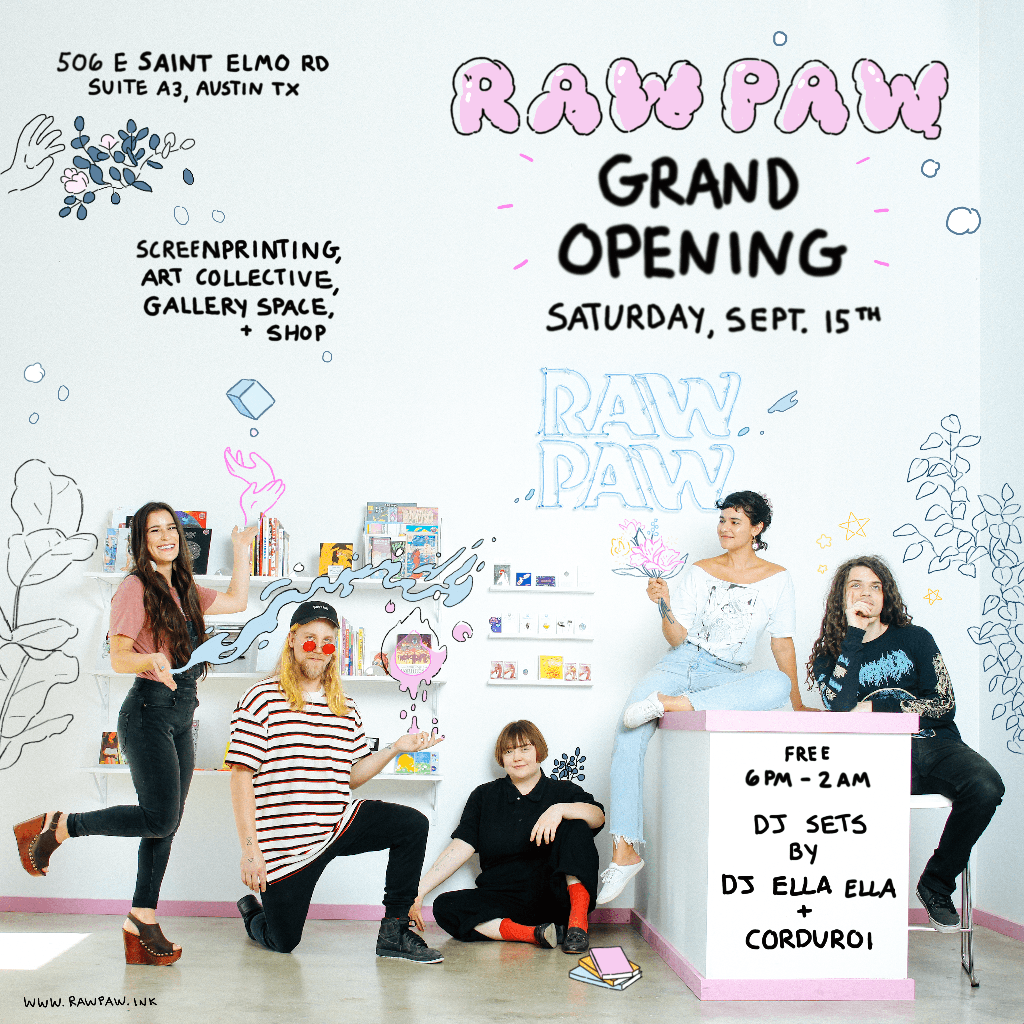 Raw Paw grand opening flyer