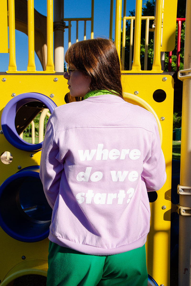 """Where Do We Start"" Lavender Blush Snap Cardigan - Brick by Brick"