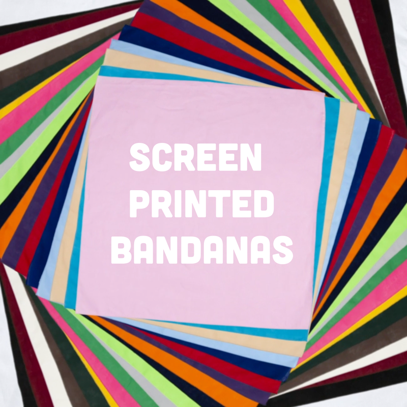 Custom Screen Printed Bandanas