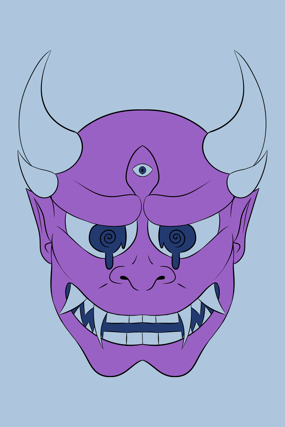 Oni Mask by MelissaHara