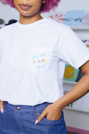Ponytail Mafia You Can Do It Pocket Tee