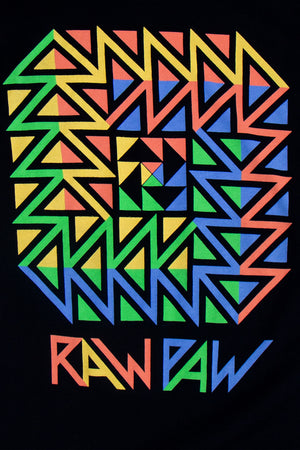 raw paw screen printed shirt
