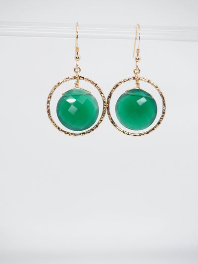 Circle of Trust Earrings- Green