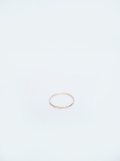 Flat Hammered Stacking Ring