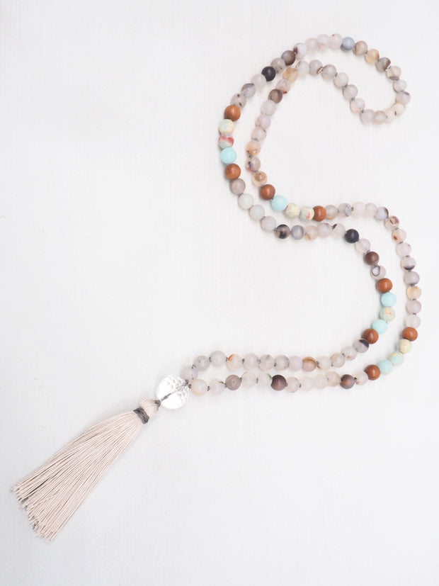 Montana Agate and Impression Jasper Mala
