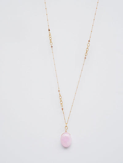 Morganite Drop Necklace
