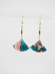 Pink Copper Bell Earrings