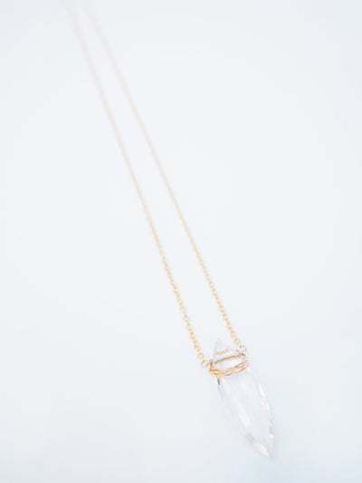 Rock Crystal Marquise Necklace