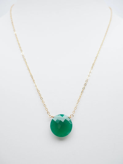 Single Green Onyx Necklace