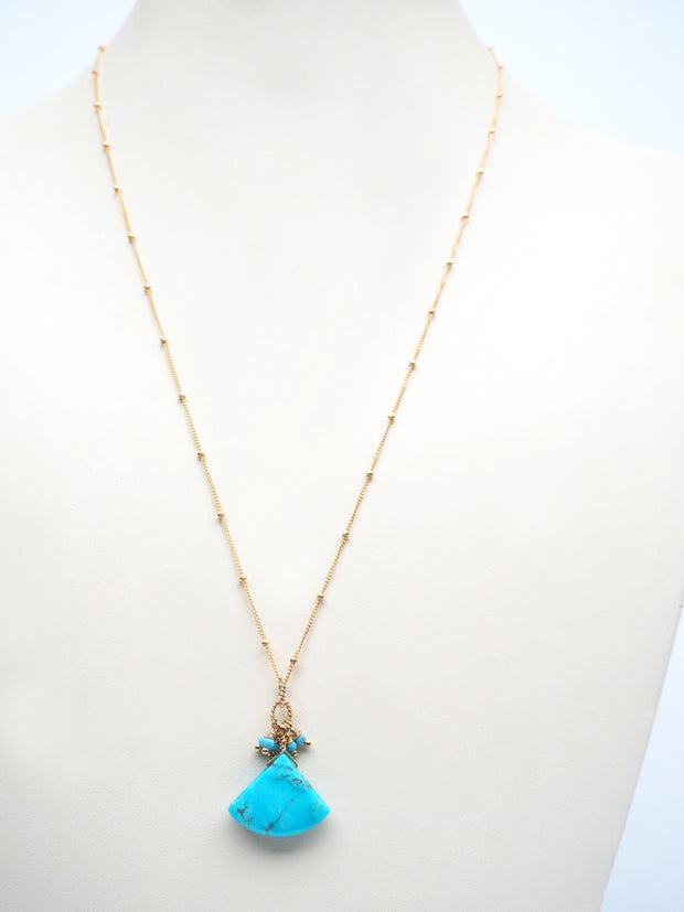Turquoise Bell Necklace