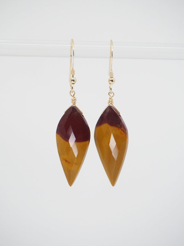 Wine Mustard Earrings