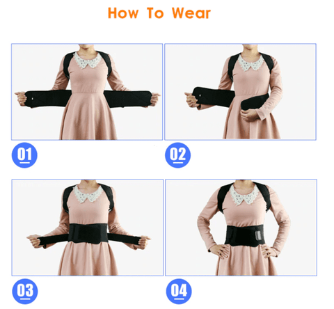 how to wear posture corrector